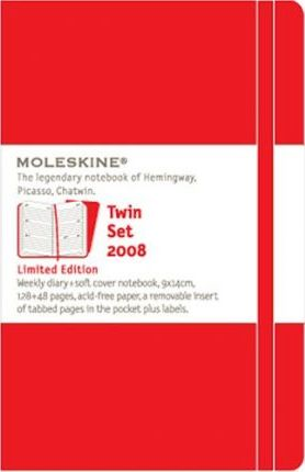 Moleskine Red Twin Set Limited Edition 2008