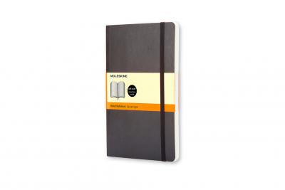 Moleskine Soft Large Ruled Notebook Black