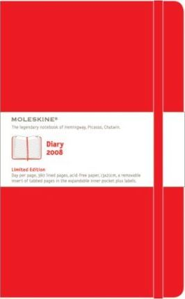 Moleskine Large Red Diary 2008: Daily