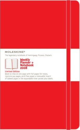 Moleskine Large Red Weekly Notebook 2008: 12 Month