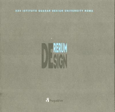 De Rerum de Sign. 25° Istituto Quasar Design University Roma