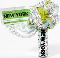 New York Crumpled City Map