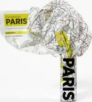 Paris Crumpled City Map