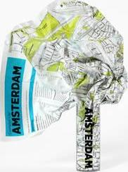 Amsterdam Crumpled City Map
