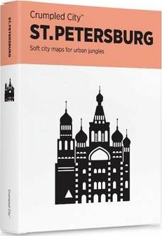 St Petersburg Crumpled City Map