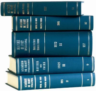 Recueil des cours, Collected Courses, Tome 381