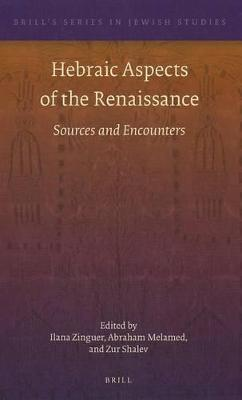 Hebraic Aspects of the Renaissance  Sources and Encounters