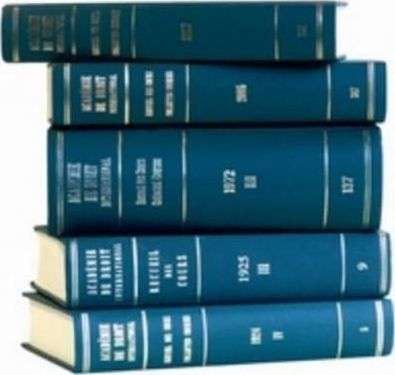Recueil des cours, Collected Courses, Tome/Volume 357
