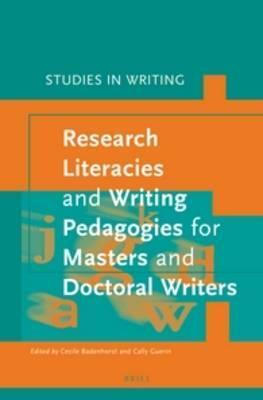 Image result for Research Literacies and Writing Pedagogies for Masters and Doctoral Writers