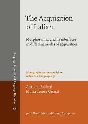 The Acquisition of Italian