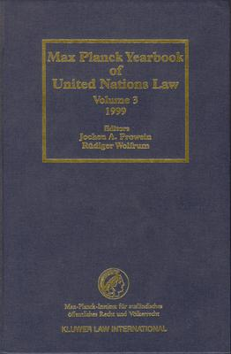 Max Planck Yearbook of United Nations Law, Volume 3 (1999)