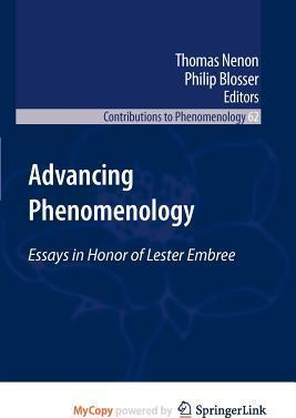 Advancing Phenomenology