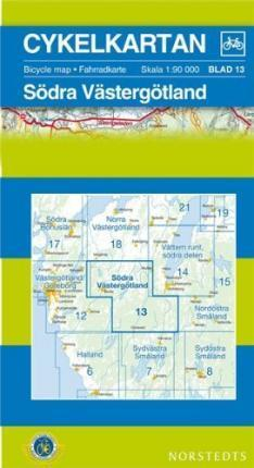 Vastergotland South Cycling Map