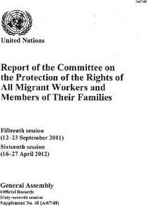 Report of the Committee on the Protection of the Rights of All Migrant Workers and Members of Their Families