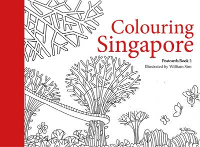 Colouring Singapore Postcards