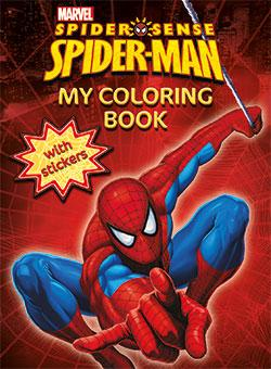 My Coloring Book with Stickers - Spider-man - Marvel