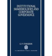 Institutional Shareholders and Corporate Governance  Hardcover  by Stapledon,...