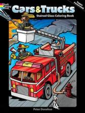 Cars and Trucks Stained Glass Colouring Book  Dover Coloring Books   Paperback