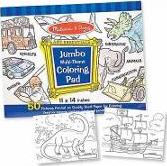 Jumbo Coloring Pad: Blue