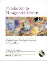 Introduction to Management Science: WITH Spreadsheets AND Student CD-ROM (includes Microsoft Project 2000)