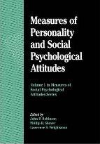 Measures of Personality and Social Psychological Attitudes: Volume 1