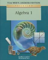 Pacemaker Algebra One Teacher Answer Second Edition 2001c
