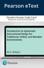 Introduction to Systematic Instructional Design for Traditional, Online, and Blended Environments, Enhanced Pearson eText -- Access Card
