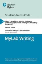 Mylab Writing with Pearson Etext -- Access Card -- For Along These Lines