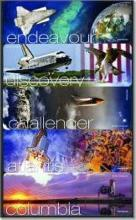 NASA Space Shuttle Bookmarks: Atlantis, Challenger, Columbia, Discovery, Endeavour