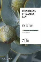Foundations of Taxation Law 2016