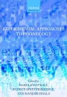 Experimental Approaches to Phonology