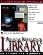 The New Oxford Annotated Biblical Reference Library on Cd-Rom for Windows