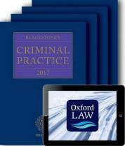 Blackstone's Criminal Practice 2017 (book and supplements)