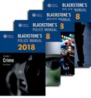 Blackstone's Police Manuals 2018: Four Volume Set