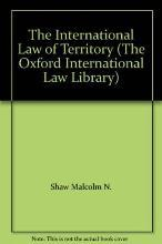 The International Law of Territory