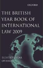 British Year Book of International Law 2009: Volume 80