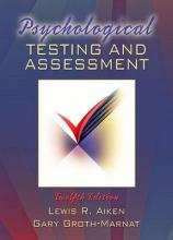 Psychological Testing and Assessment- (Value Pack W/Mylab Search)