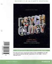 Psychology, Books a la Carte Plus New Mylab Psychology with Etext -- Access Card Package
