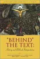 'Behind' the Text: History and Biblical Interpretation x