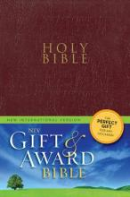 NIV, Gift and Award Bible, Leather-Look, Black, Red Letter Edition