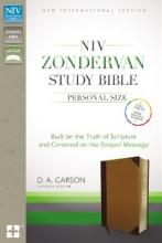 NIV Zondervan Study Bible, Personal Size, Imitation Leather, Brown/Tan, Indexed