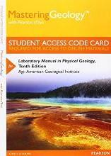 Masteringgeology with Pearson Etext -- Standalone Access Card -- For Laboratory Manual in Physical Geology