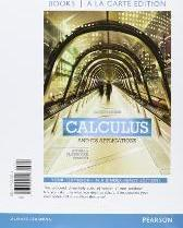 Calculus and Its Applications, Books a la Carte Edition