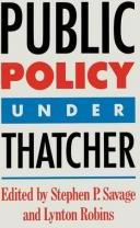 Public Policy Under Thatcher