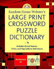 Random House Webster's Large Print Crossword Puzzle Dictionary