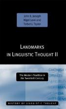 Landmarks in Linguistic Thought: v.2