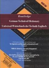 Routledge German Technical Dictionary Universal-Worterbuch der Technik Englisch: Volume 1