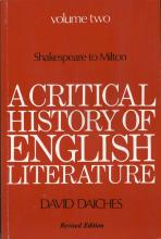A Critical History of English Literature: v. 2