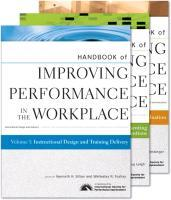 Handbook of Improving Performance in the Workplace: v. 1-3