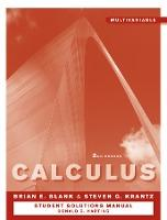 Student Solutions Manual to accompany Calculus: Multivariable 2e